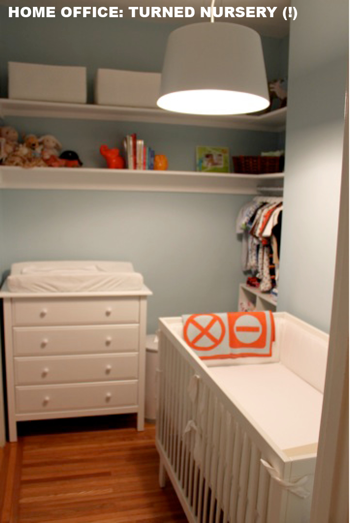 Nursery closet hanging : ... closet to organized home office and then nursery is truly remarkable